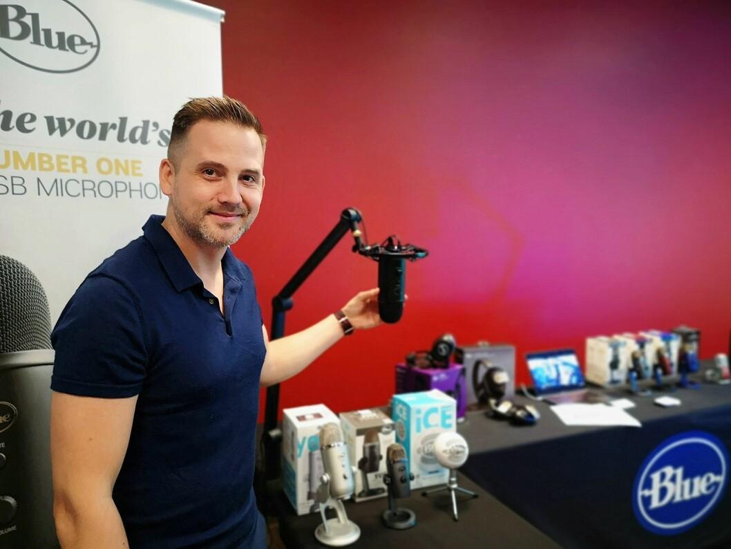 Chris Prestegaard, salgssjef i LSM Global, salgsrepresentasjonsselskapet som representerer Blue i Norden, har fått en ny kundegruppe i spillere. Foto: Marte Ottemo