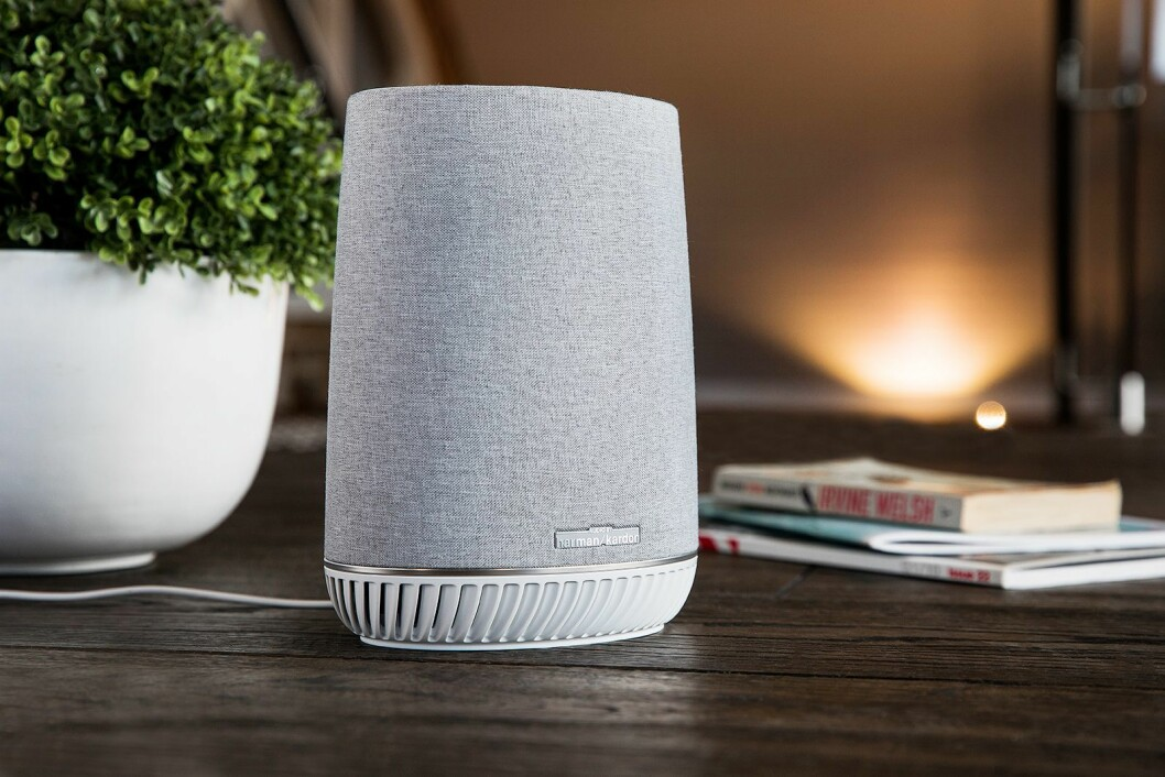 Med Orbi Voice får du både stemmestyring med Alexa, nettverk og en høyttaler fra Harman Kardon i ett. Foto: Netgear