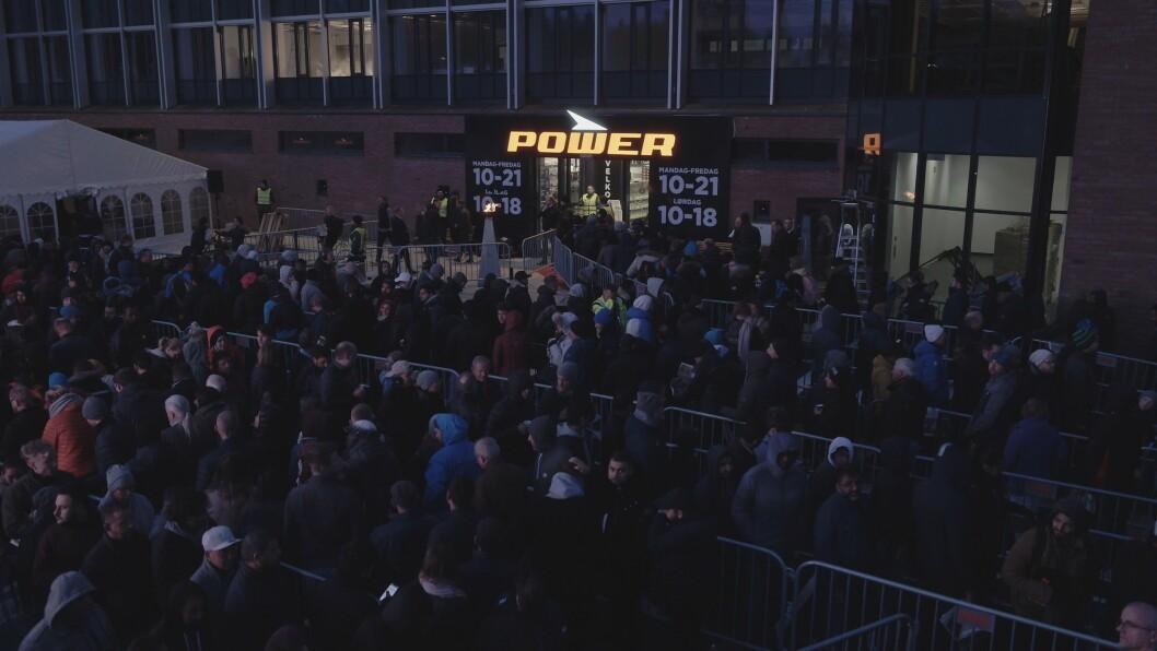 Power melder om godt besøk i butikkene under Black Friday. Bildet over er tatt fra kjedens butikkåpning på Lørenskog tidligere i år. Foto: Power