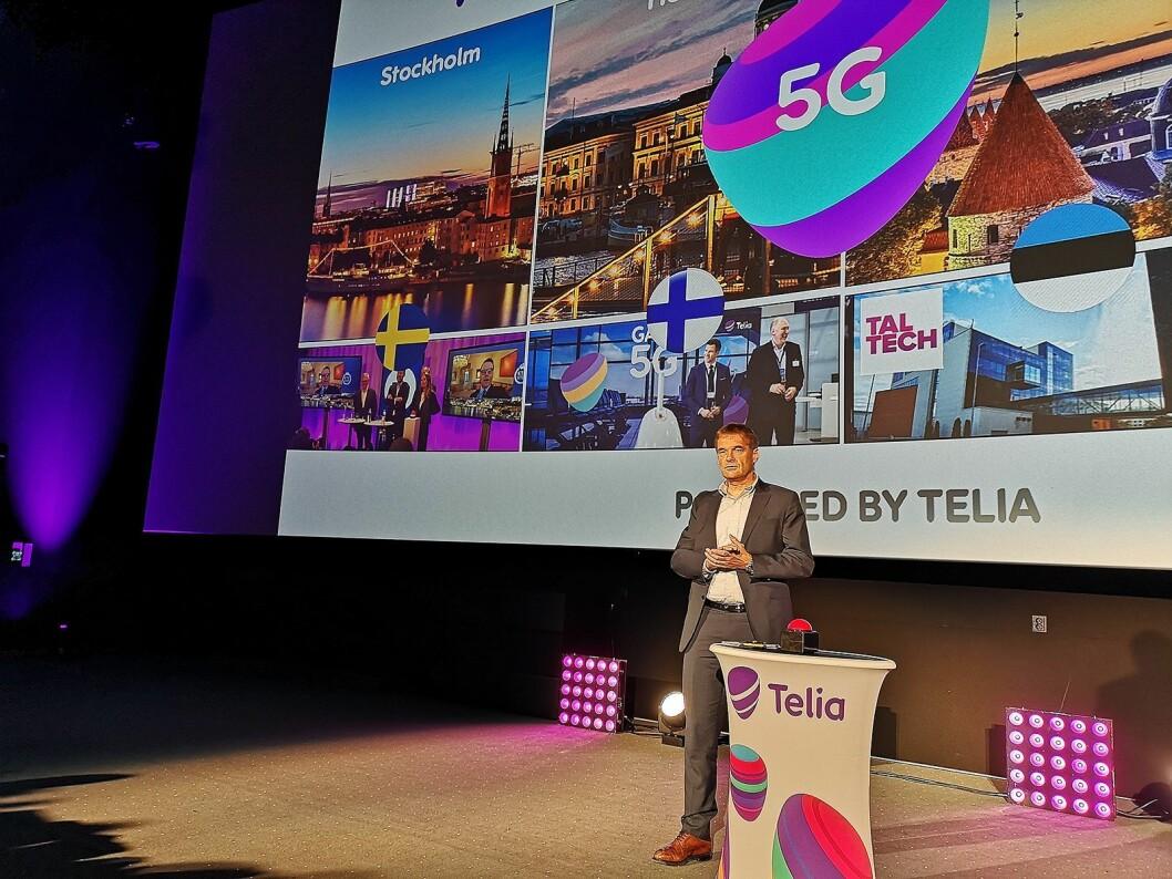 Telia-sjef Abraham Foss vil bygge 5G-nettet der kundene er. Foto: Marte Ottemo