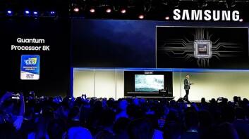 Samsungs er blant dem som har sagt de stiller på CES i 2022. Her fra deres pressemøte på CES 2019. Foto: Marte Ottemo.