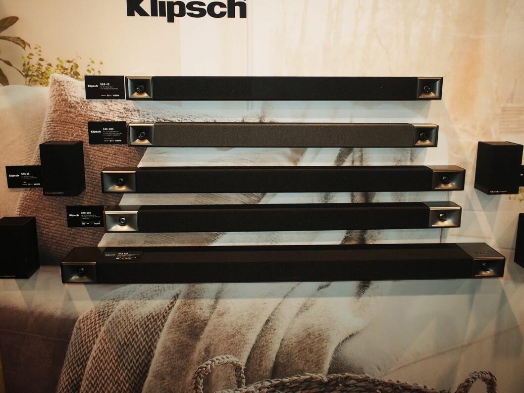 Klipsch lanserer en rekke nye lydplanker i mange ulike prisområder. Foto: Jan Røsholm.