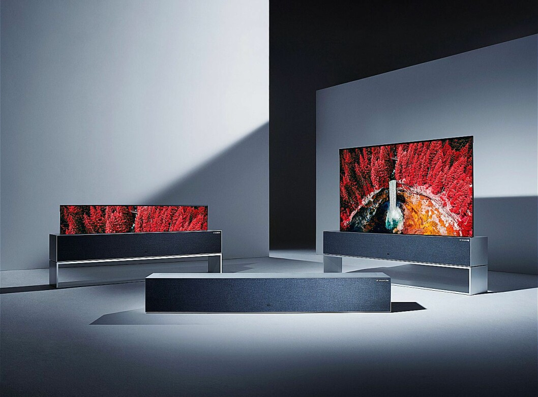 LGs nyeste tilskudd til TV-verdenen er en rullbar 4K-TV på 65 tommer. Foto: LG