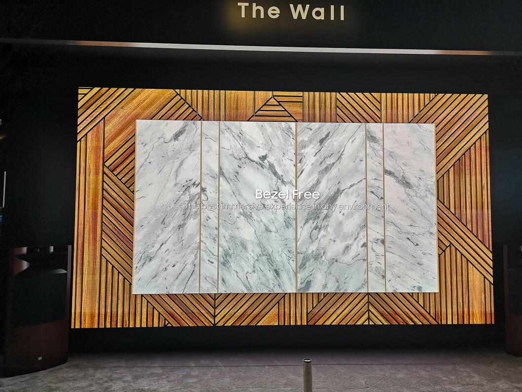 Med mikro-led kan du selv bestemme formfaktoren på TVen din. Foto: Marte Ottemo.