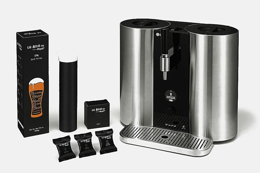 LG lanserer helautomatisk ølbrygger, men det er usikkert om produktet kommer på det norske markedet. Foto: LG.
