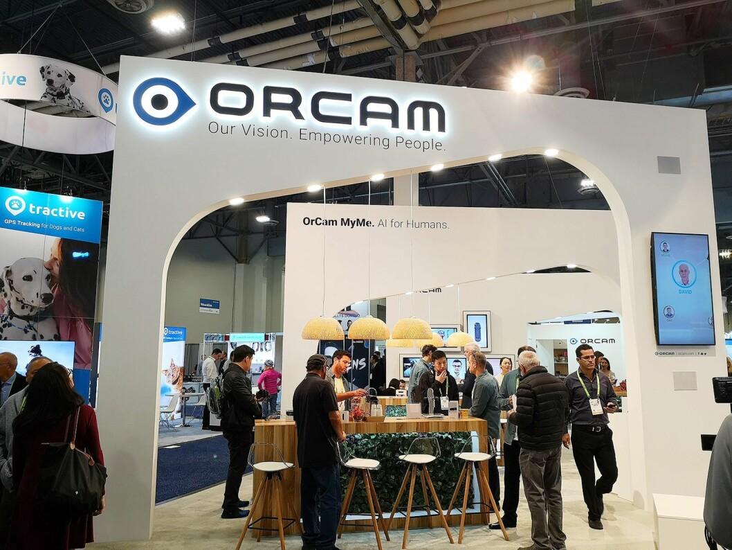 OrCams stand på CES-messen i Las Vegas var godt besøkt. Foto: Marte Ottemo.