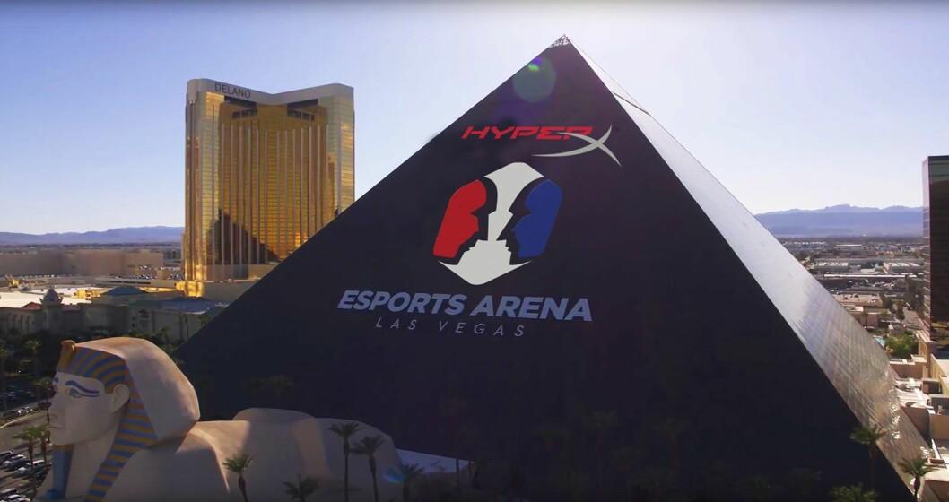 Slik ser det ut når HyperX kjøper plass på Luxor Hotel i Las Vegas. Foto: HyperX.