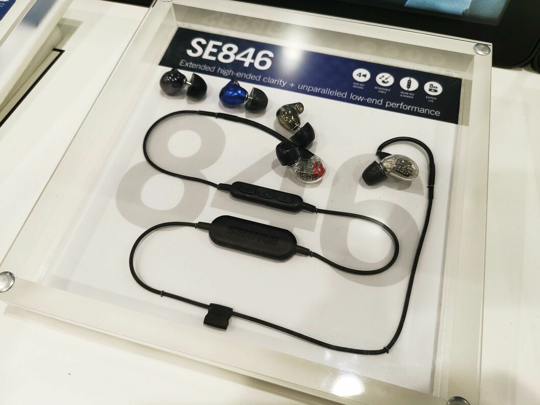 Shure SE846 er en av øreproppene i SE-serien man nå kan få kjøpt en Bluetooth 2.0-kabel til, som ekstrautstyr. Foto: Stian Sønsteng.
