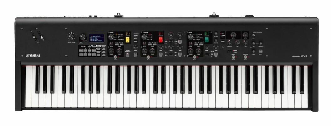 Yamaha CP73 har et litt lettere klaviatur som reduserer vekten slik at man enkelt kan ta med seg pianoet på turné. Klaviaturet har 73 tangenter, fra E til E. Vekt: 13,1 kilo. Pris: 2.000 euro. Foto: Yamaha.