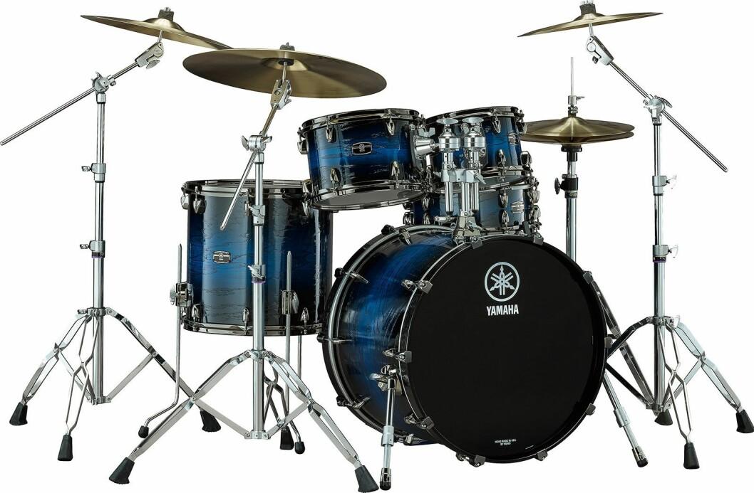 Trommesetteene i den nye Yamaha Live Custom Hybrid Oak-serien er i øvre sjikt, og kommer i handelen i vår. Foto: Yamaha.