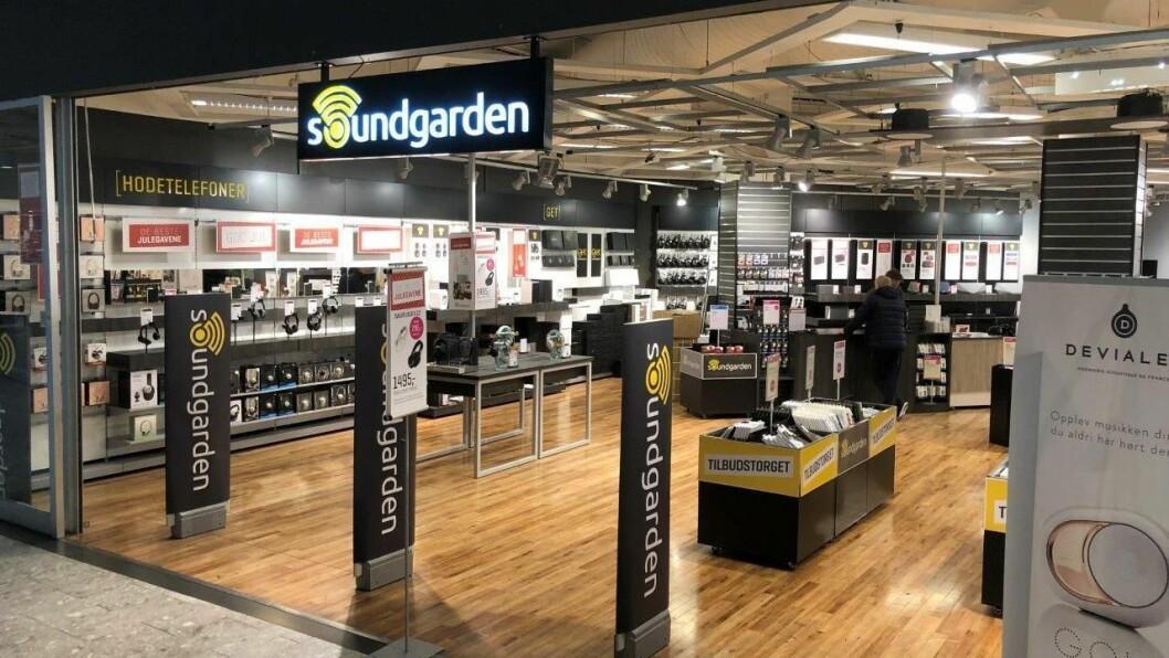 Soundgardens forretning i Ski storsenter. Det er ennå ikke avklart om hvilke av de 15 butikkene som drives videre, med Fnky AS på eiersiden. Foto: Soundgarden.no AS