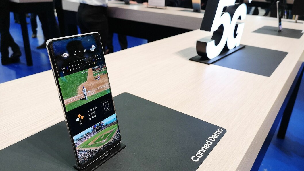 Samsung S10 kommer med støtte for 5G. Foto: Marte Ottemo.