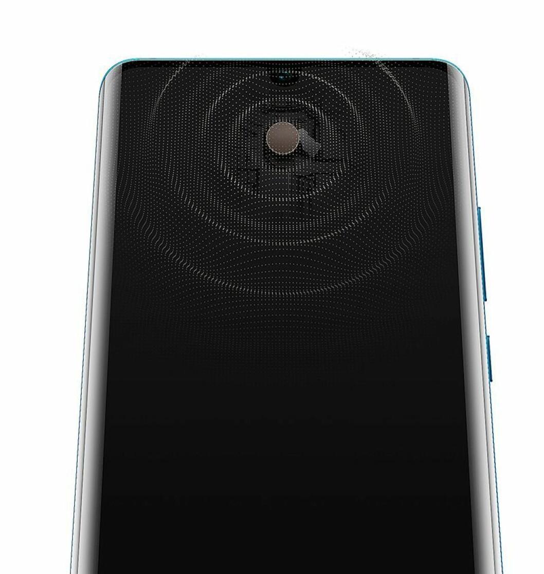 P30-modellene har ikke hull til høyttaleren, men bruker glasset nærmest som høyttalermembran. Foto: Huawei.