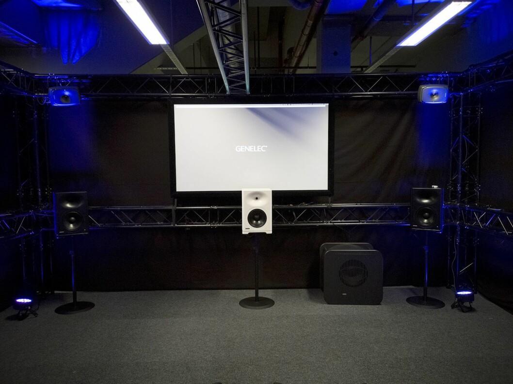 Benums Genelec-rom på LLB-messen, med et 7.1.4-system til i overkant av 400.000 kroner. Foto: Stian Sønsteng.
