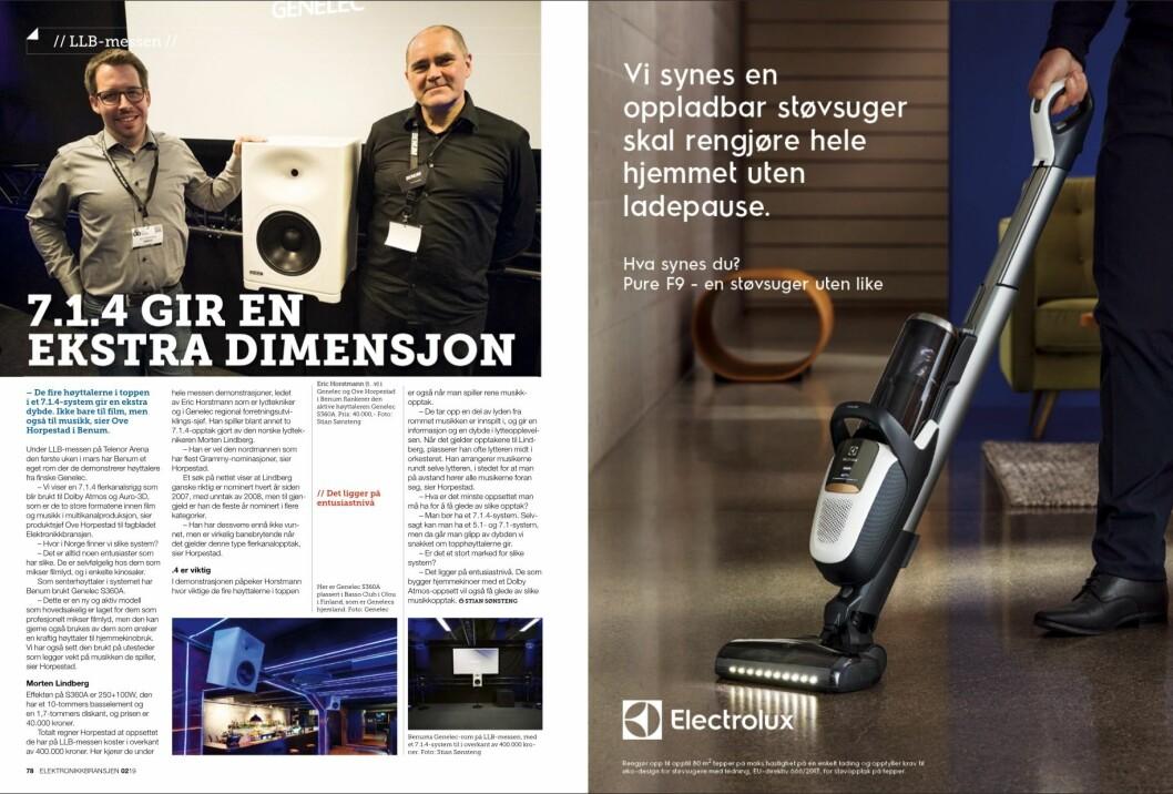 """Artikkelen ble første gang publisert i papirutgaven av fagbladet Elektronikkbransjen nr. 2/2019, som ble distribuert 10. april. <a href=""""http://www.mypaper.se/html5/customer/248/12428/?page=78"""" target=""""_blank"""" rel=""""noopener"""">Her kan du lese artikkelen</a> og bla gjennom digitalutgaven av bladet. Du kan lese alle utgaver av bladet digitalt, fra og med nr. 1/1937, på <a href=""""https://www.elektronikkbransjen.no/historiskarkiv"""" target=""""_blank"""" rel=""""noopener"""">elektronikkbransjen.no/historiskarkiv</a>."""