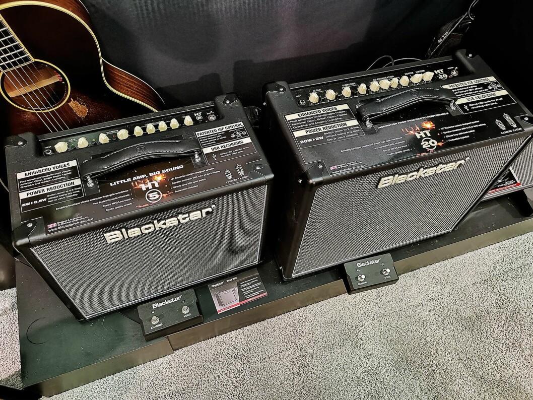 Blackstar HT5 og HT20, der wattstyrken reduseres fra henholdsvis 5 og 20 til 0,5 og 2 watt. Foto: Stian Sønsteng.