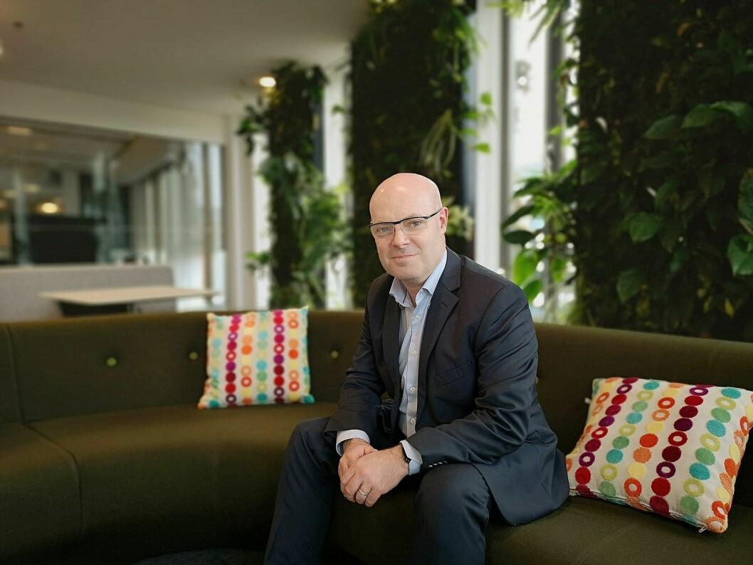 Kanalansvarlig for Emea, Paul Dunne, lover ett kontaktpunkt for Polys partnere framover. Foto: Marte Ottemo