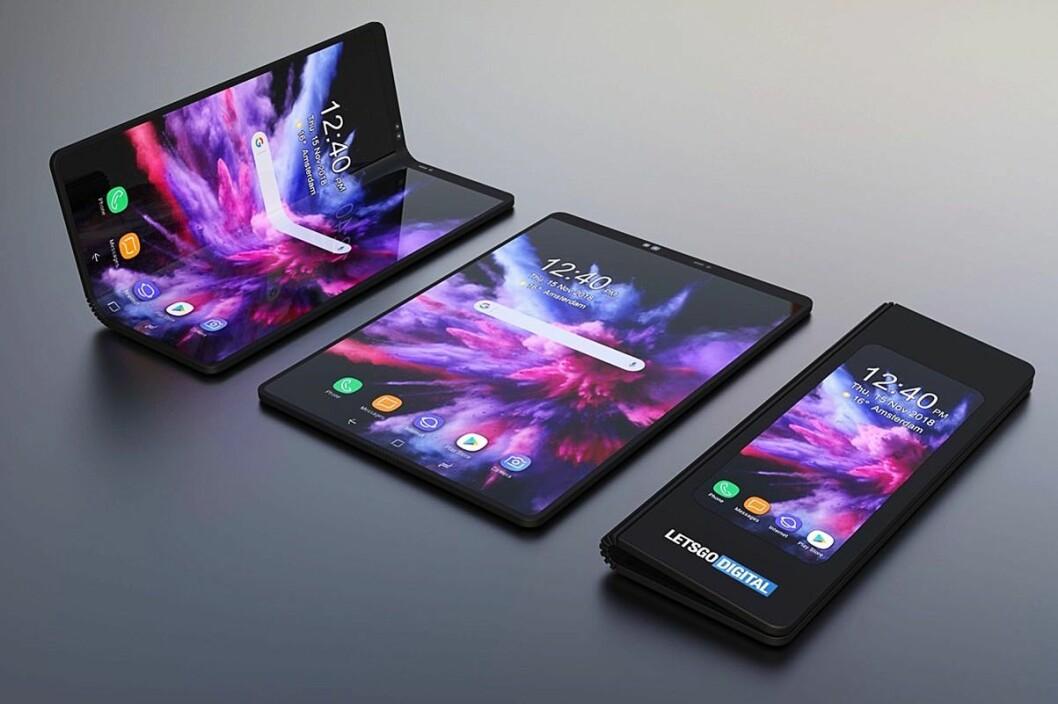 Samsung Galaxy Fold vil koste 21.000 kroner, og Norge blir blant de første markedene for nyvinningen. Foto: Samsung