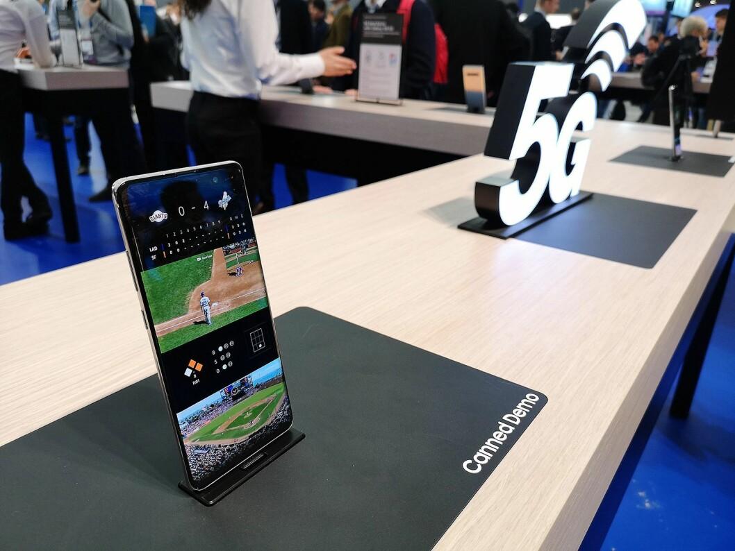 Samsung kommer med en egen 5G-mobil, men lansering i Norge avhenger av når nettene settes i stand. Foto: Marte Ottemo.