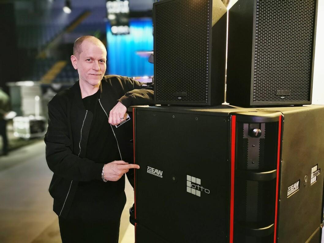 Steinar Eikum i XL Audio er godt fornøyd med å ha fått Eastern Acoustic Works (EAW) i porteføljen. Foto: Stian Sønsteng