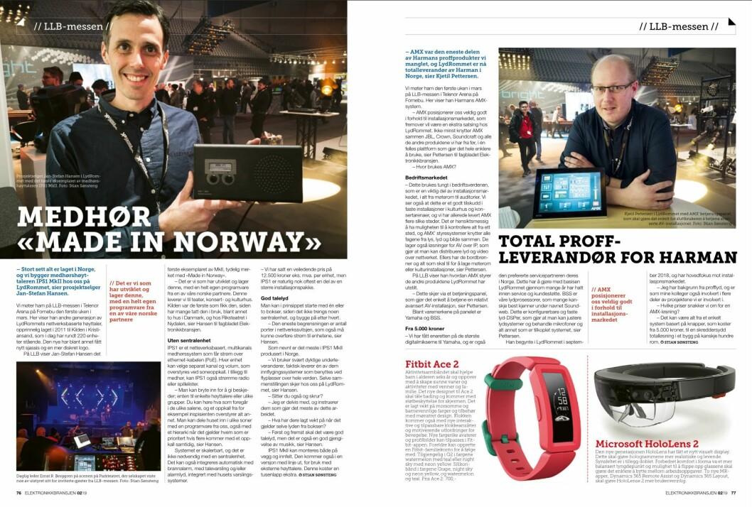 """Artikkelen ble første gang publisert i papirutgaven av fagbladet Elektronikkbransjen nr. 2/2019, som ble distribuert 10. april. <a href=""""http://www.mypaper.se/html5/customer/248/12428/?page=76"""" target=""""_blank"""" rel=""""noopener"""">Her kan du lese artikkelen</a> og bla gjennom digitalutgaven av bladet. Du kan lese alle utgaver av bladet digitalt, fra og med nr. 1/1937, på <a href=""""https://www.elektronikkbransjen.no/historiskarkiv"""" target=""""_blank"""" rel=""""noopener"""">elektronikkbransjen.no/historiskarkiv</a>."""