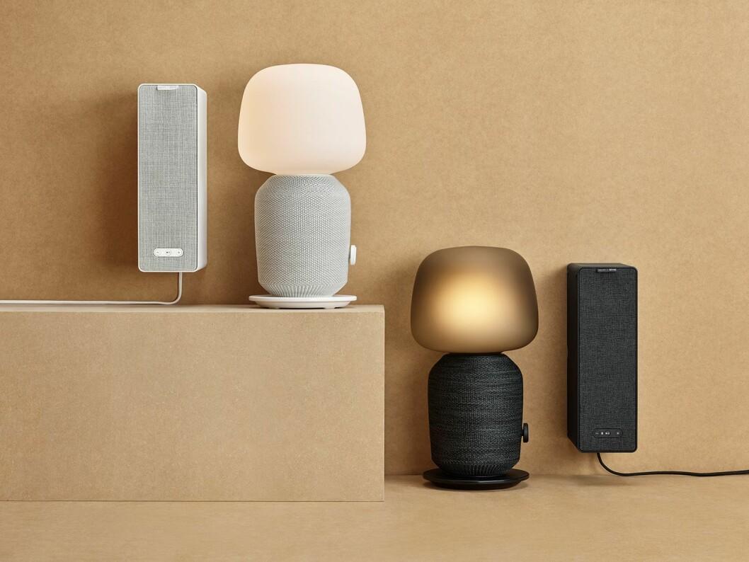 Symfonisk trådløse bokhyllehøyttalere og bordlampehøyttalere selges hos Ikea, og er utviklet i samarbeid med Sonos. Foto: Ikea