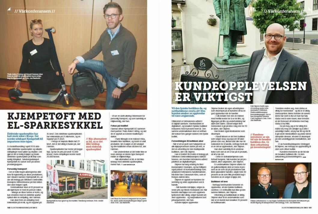 """Artikkelen ble første gang publisert i papirutgaven av fagbladet Elektronikkbransjen nr. 4/2019, som ble distribuert 28. august. <a href=""""http://www.mypaper.se/html5/customer/248/12568/?page=100"""" target=""""_blank"""" rel=""""noopener"""">Her kan du lese artikkelen</a> og bla gjennom digitalutgaven av bladet. Du kan lese alle utgaver av bladet digitalt, fra og med nr. 1/1937, på <a href=""""https://www.elektronikkbransjen.no/historiskarkiv"""" target=""""_blank"""" rel=""""noopener"""">elektronikkbransjen.no/historiskarkiv</a>."""