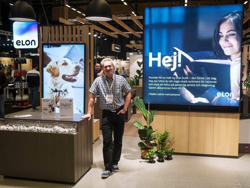 Stefan Englund, butikksjef hos Elon Englunds i Nyköping, på Elon Expo 2019. Foto: Ola Larsson