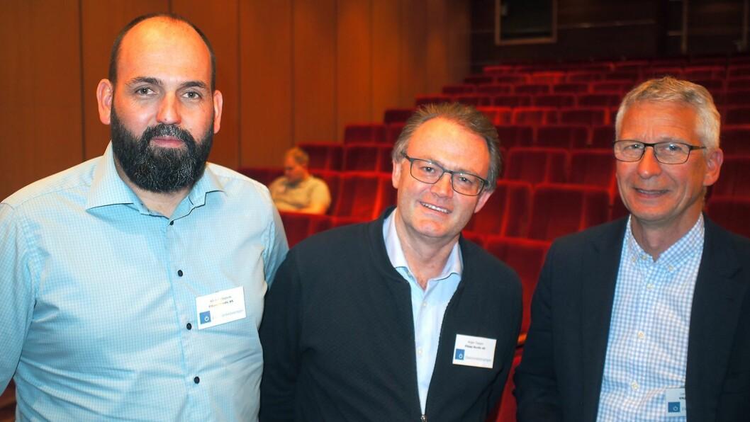 Elkjøp var godt representert på den 28. utgaven av Vårkonferansen. Fra venstre Bård Fredagsvik, Roger Tangen og Lorentz Jacobsen. Foto: Jan Røsholm