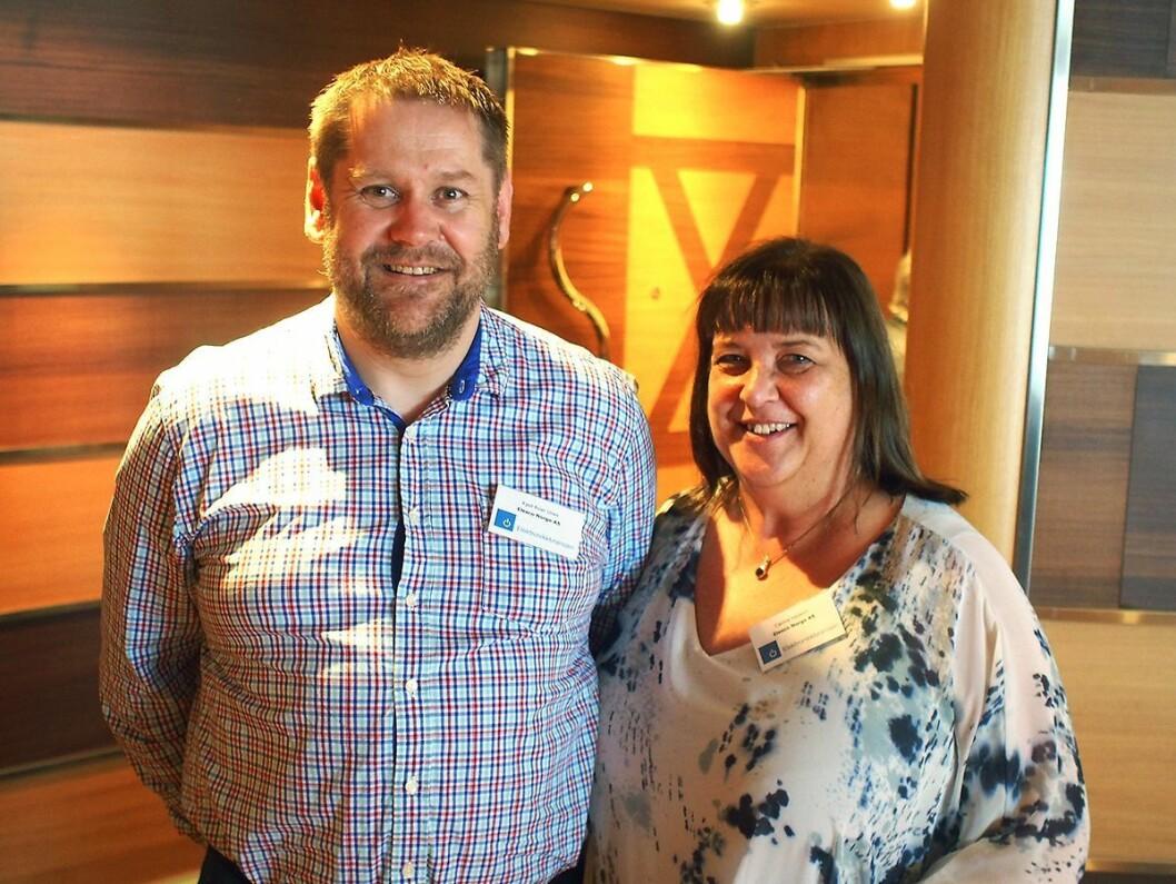 Kjell Roar Unes og Carina Hedelin var to av mange deltakere fra Elesco Norge. Foto: Jan Røsholm.