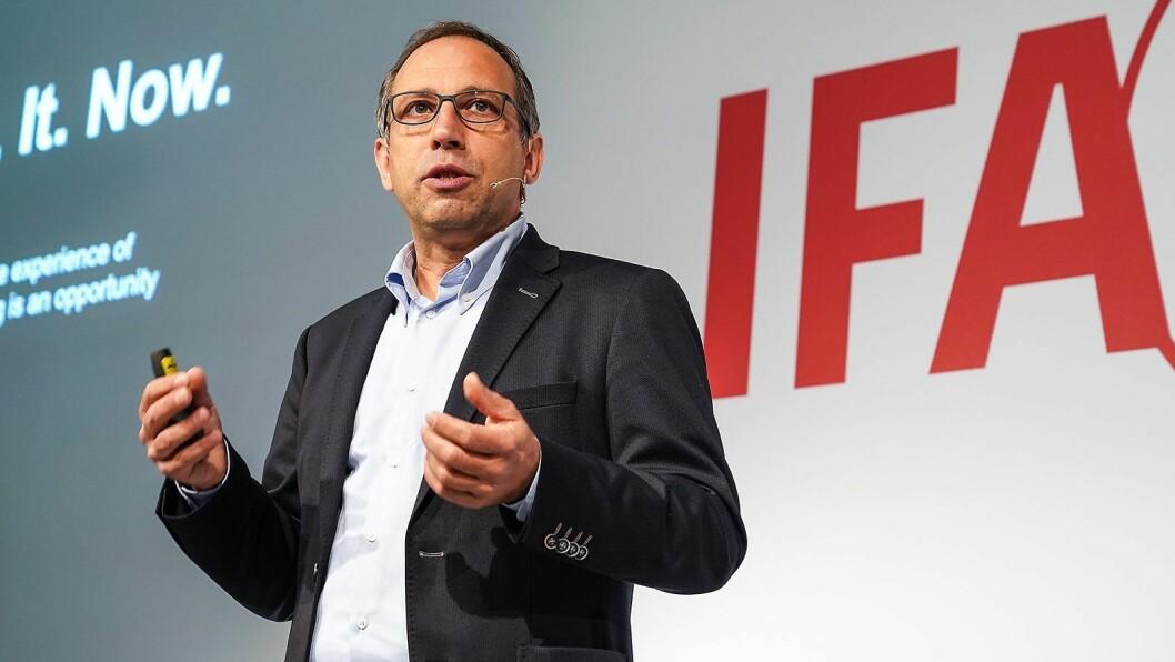 Visepresident Friedemann Stöckle i markedsanalyseselskapet GfK, med ansvar for salgsstøtte. Foto: IFA