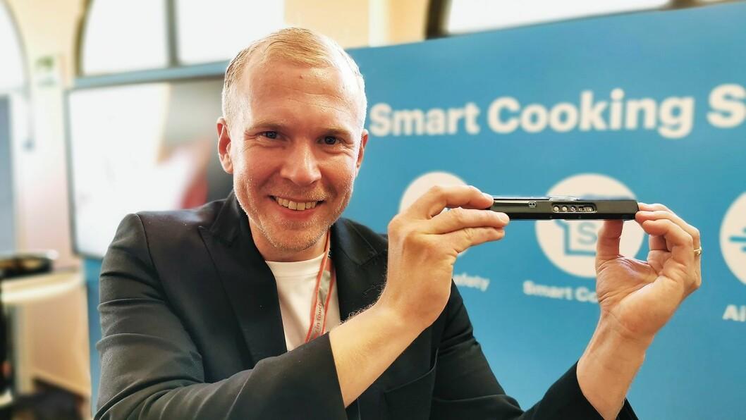Mikko Reinikainen er grunnlegger av og salgs- og marketingsjef i Safera, som nå lanserer Safera Sense. Foto: Stian Sønsteng