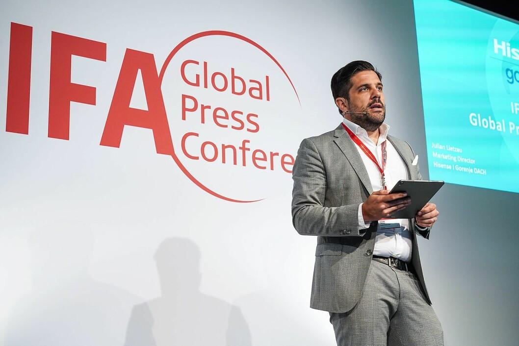 Marketingdirektør Julian Lietzau i Hisense Gorenje. Foto: IFA.