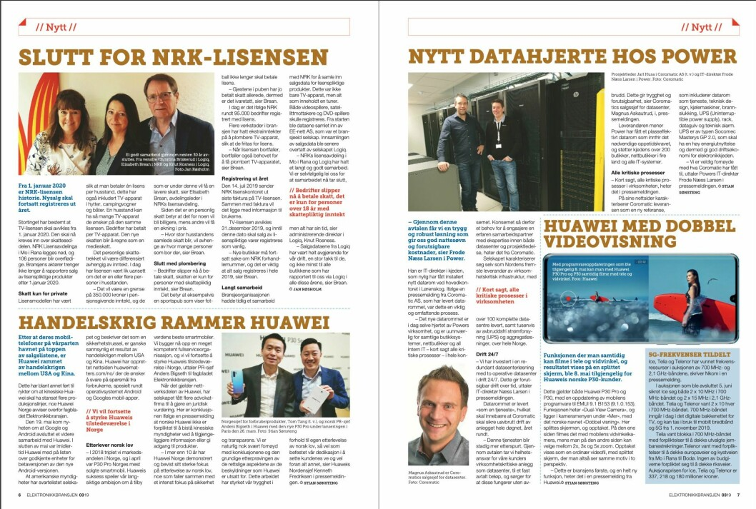 """Artikkelen ble første gang publisert i papirutgaven av fagbladet Elektronikkbransjen nr. 3/2019, som ble distribuert 13. juni. <a href=""""http://www.mypaper.se/html5/customer/248/12536/?page=6"""" target=""""_blank"""" rel=""""noopener"""">Her kan du lese artikkelen</a> og bla gjennom digitalutgaven av bladet. Du kan lese alle utgaver av bladet digitalt, fra og med nr. 1/1937, på <a href=""""https://www.elektronikkbransjen.no/historiskarkiv"""" target=""""_blank"""" rel=""""noopener"""">elektronikkbransjen.no/historiskarkiv</a>."""