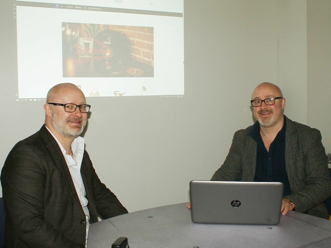 Daglig leder Christian Skou (t. v.) og markedssjef Joackim Schou Dahle i Yesda.no. Foto: Yesda.no.
