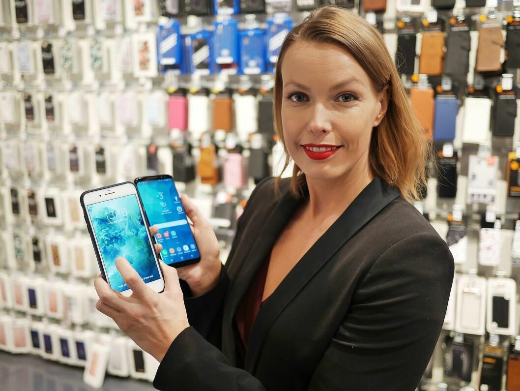 Kommunikasjonssjef i Stiftelsen Elektronikkbransjen, Marte Ottemo, sier kamerakvalitet er svært viktig når nordmenn velger ny mobil. Foto: Stian Sønsteng.