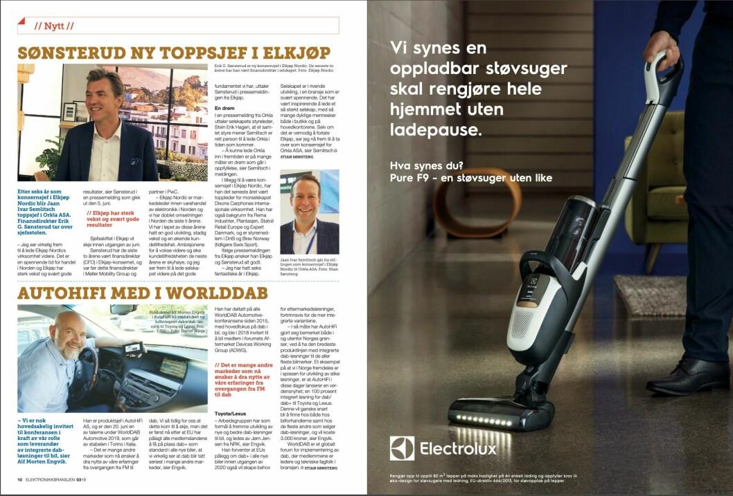 """Artikkelen ble første gang publisert i papirutgaven av fagbladet Elektronikkbransjen nr. 3/2019, som ble distribuert 13. juni. <a href=""""http://www.mypaper.se/html5/customer/248/12536/?page=10"""" target=""""_blank"""" rel=""""noopener"""">Her kan du lese artikkelen</a> og bla gjennom digitalutgaven av bladet. Du kan lese alle utgaver av bladet digitalt, fra og med nr. 1/1937, på <a href=""""https://www.elektronikkbransjen.no/historiskarkiv"""" target=""""_blank"""" rel=""""noopener"""">elektronikkbransjen.no/historiskarkiv</a>."""