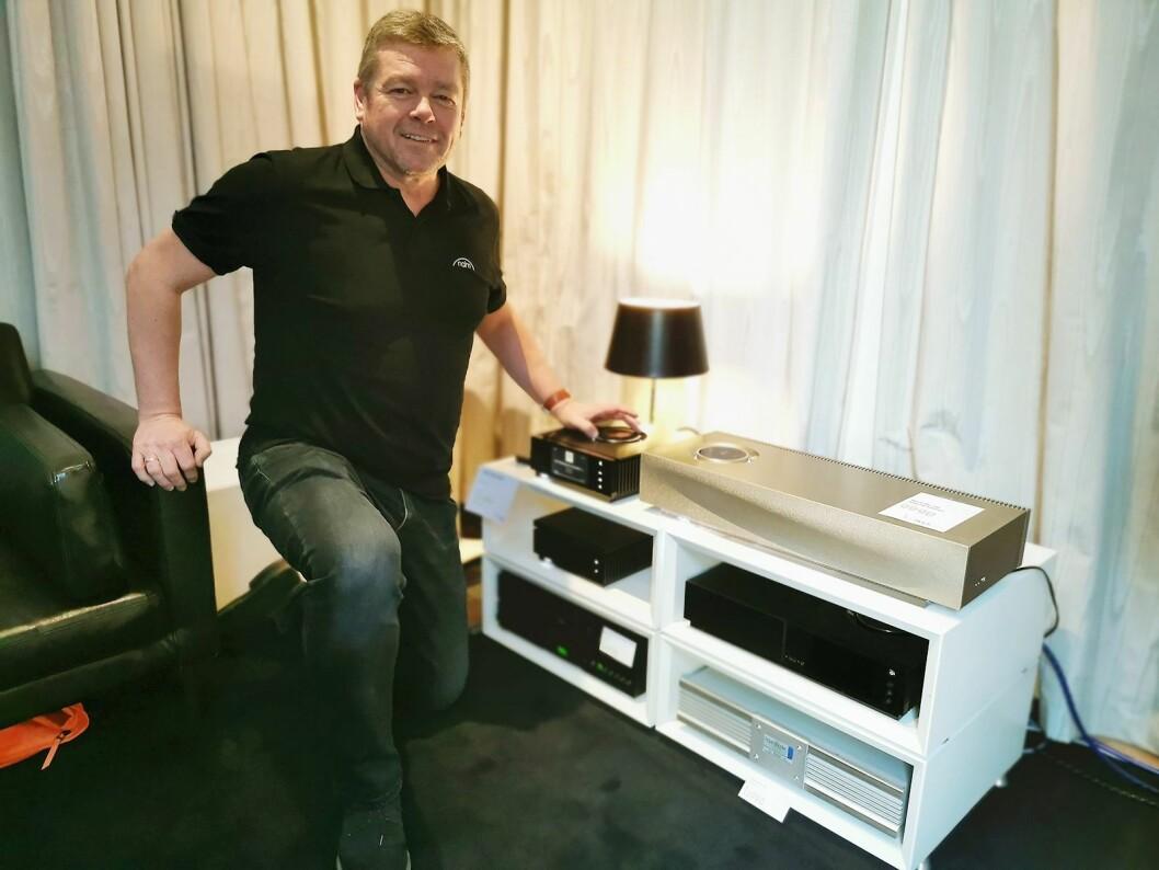 – Vårt trådløse alt i ett- og multiromsystem MU-SO er best i kategorien, sier Mark Raggett i Naim Audio Ltd. Her er det vist i sølvlakkert aluminium. Foto: Stian Sønsteng.