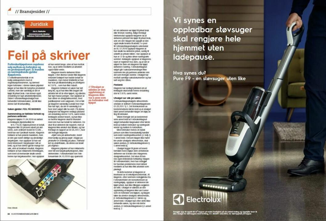 """Artikkelen ble første gang publisert i papirutgaven av fagbladet Elektronikkbransjen nr. 4/2019, som ble distribuert 28. august. <a href=""""http://www.mypaper.se/html5/customer/248/12568/?page=64"""" target=""""_blank"""" rel=""""noopener"""">Her kan du lese artikkelen</a> og bla gjennom digitalutgaven av bladet. Du kan lese alle utgaver av bladet digitalt, fra og med nr. 1/1937, på <a href=""""https://www.elektronikkbransjen.no/historiskarkiv"""" target=""""_blank"""" rel=""""noopener"""">elektronikkbransjen.no/historiskarkiv</a>."""
