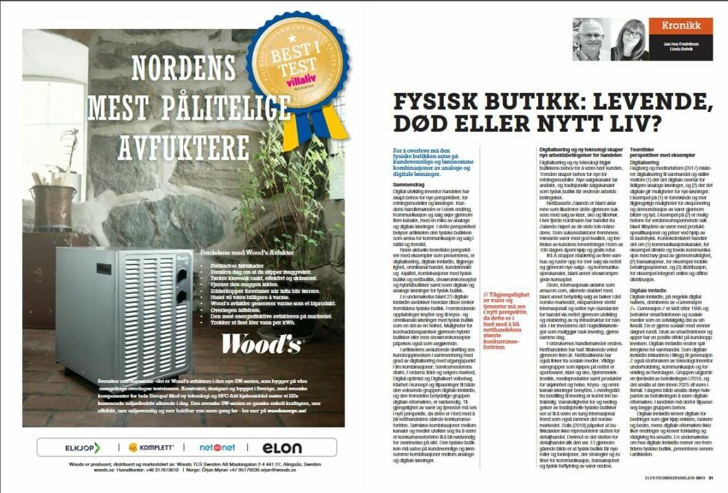 """Artikkelen ble første gang publisert i papirutgaven av fagbladet Elektronikkbransjen nr. 4/2019, som ble distribuert 28. august. <a href=""""http://www.mypaper.se/html5/customer/248/12568/?page=90"""" target=""""_blank"""" rel=""""noopener"""">Her kan du lese artikkelen</a> og bla gjennom digitalutgaven av bladet. Du kan lese alle utgaver av bladet digitalt, fra og med nr. 1/1937, på <a href=""""https://www.elektronikkbransjen.no/historiskarkiv"""" target=""""_blank"""" rel=""""noopener"""">elektronikkbransjen.no/historiskarkiv</a>."""