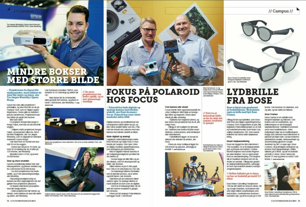 """Artikkelen ble første gang publisert i papirutgaven av fagbladet Elektronikkbransjen nr. 4/2019, som ble distribuert 28. august. <a href=""""http://www.mypaper.se/html5/customer/248/12568/?page=74"""" target=""""_blank"""" rel=""""noopener"""">Her kan du lese artikkelen</a> og bla gjennom digitalutgaven av bladet. Du kan lese alle utgaver av bladet digitalt, fra og med nr. 1/1937, på <a href=""""https://www.elektronikkbransjen.no/historiskarkiv"""" target=""""_blank"""" rel=""""noopener"""">elektronikkbransjen.no/historiskarkiv</a>."""