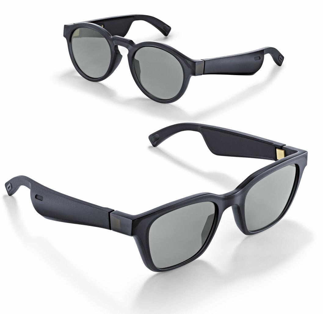 Bose Frames er solbriller med integrert høyttaler i brillestengene. Foto: Jan Røsholm.