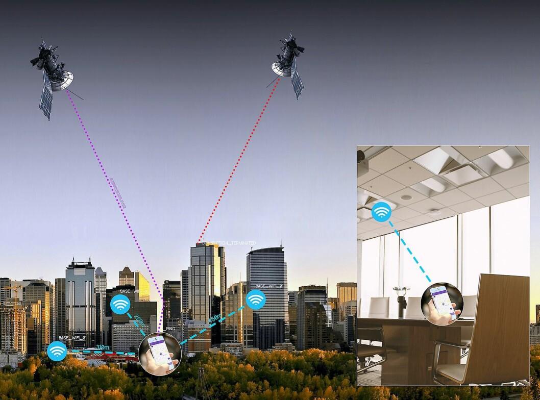 Tail it bruker både GPS og wifi til å lokalisere enhetene. Hvis de ikke får kontakt med noen av disse, brukes mobilnettet (LBS). Foto: Tail it.