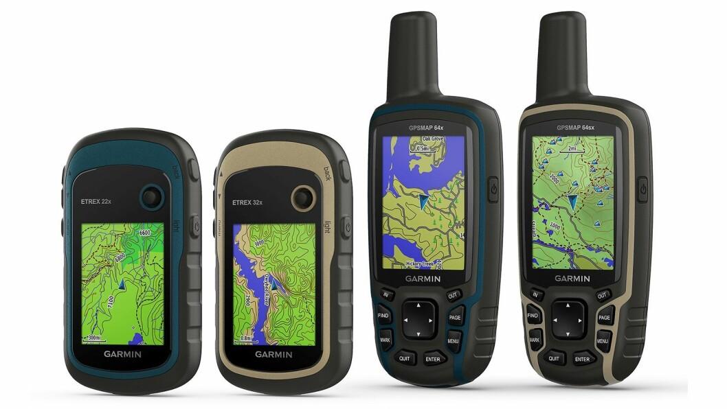 Garmin eTrek 22x/32x og GPSMAP 64x/64sx