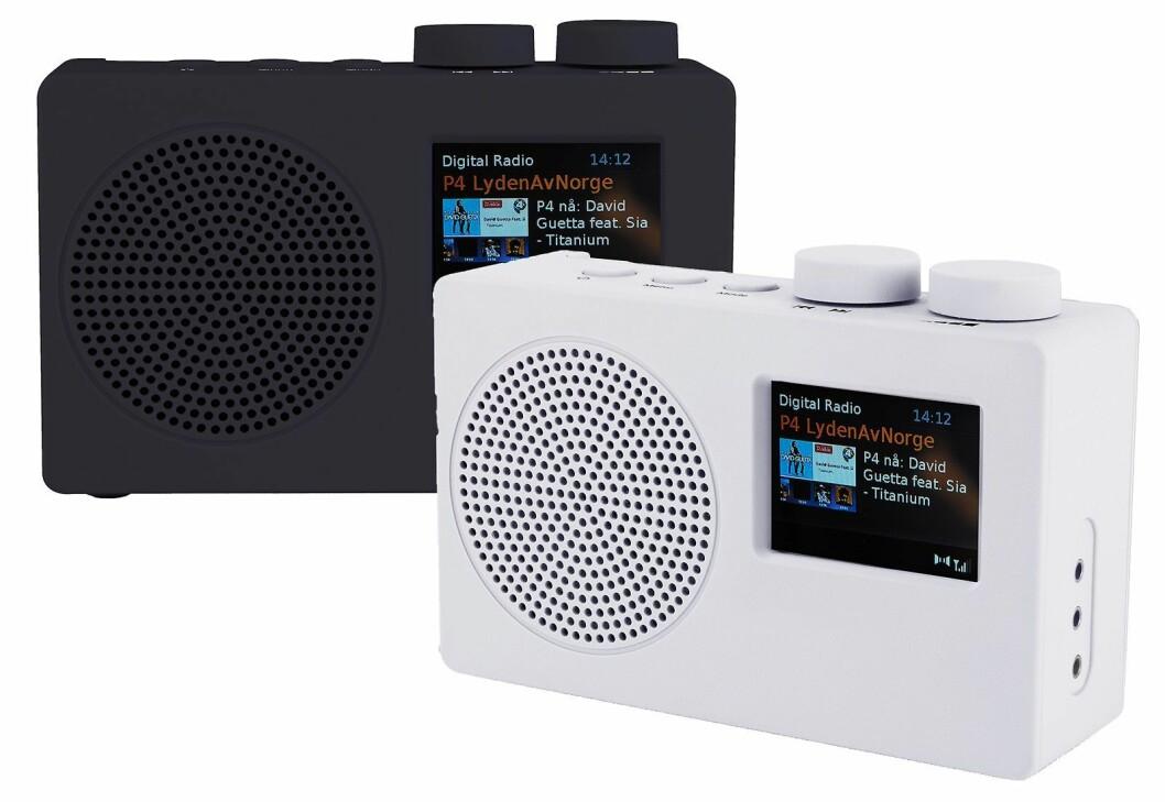 POPdeluxe har dab, dab+, FM RDS, fargedisplay med slideshow, FS-modul, hodetelefonutgang, AUX-inngang, automatisk klokke, klokkeradio, auto-tune og norsk tekst (DLS) i display. 220V og 4xAA-batterier. Finnes i sort, hvit, rosa og blå. Pris: 700,-.