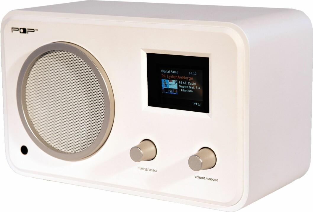 POPworldradio er den samme som POPradio, men med internettradio, Spotify Connect, APP-kontroll og multiromfunksjon i tillegg. Pris: 2.000,-.