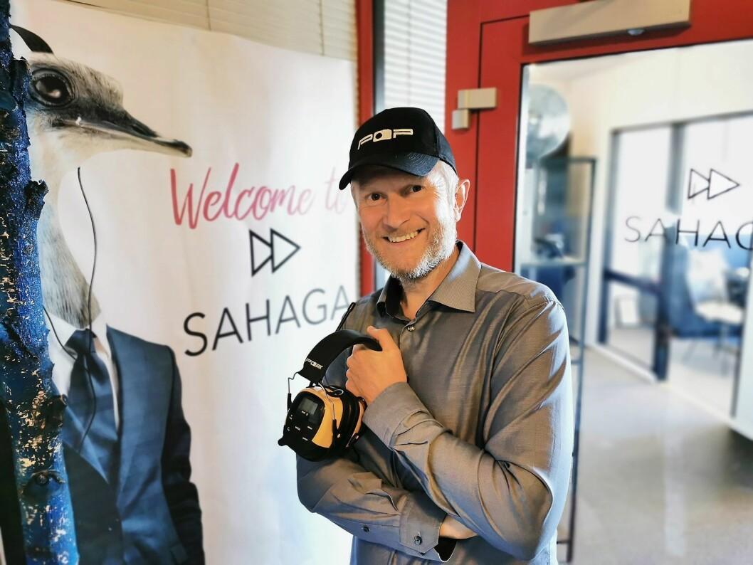 Hans Christian Andersen og Sahaga AS har flyttet inn i nye lokaler på Øra i Fredrikstad. Foto: Stian Sønsteng.