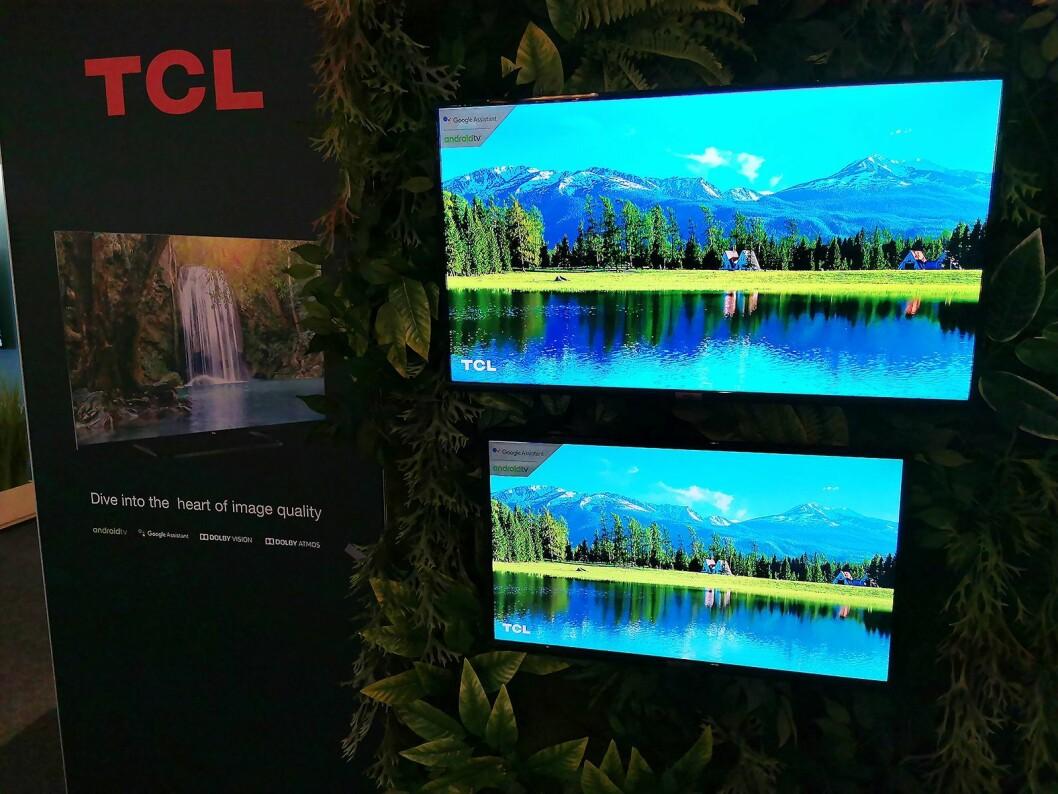 I ES56-serien tilbyr TCL 32 og 40 tommer med full-HD og Android 8. Pris: 2.500,- og 3.000,- Foto: Stian Sønsteng