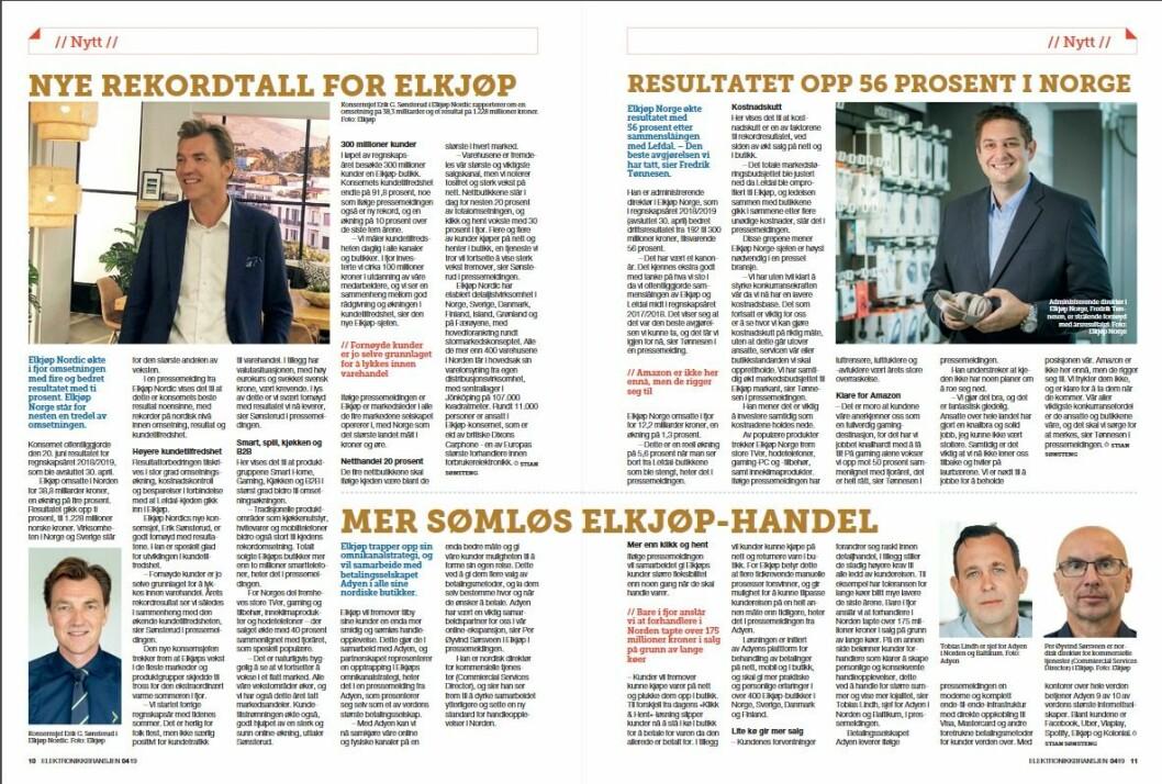 """Artikkelen ble første gang publisert i papirutgaven av fagbladet Elektronikkbransjen nr. 4/2019, som ble distribuert 28. august. <a href=""""http://www.mypaper.se/html5/customer/248/12568/?page=10"""" target=""""_blank"""" rel=""""noopener"""">Her kan du lese artikkelen</a> og bla gjennom digitalutgaven av bladet. Du kan lese alle utgaver av bladet digitalt, fra og med nr. 1/1937, på <a href=""""https://www.elektronikkbransjen.no/historiskarkiv"""" target=""""_blank"""" rel=""""noopener"""">elektronikkbransjen.no/historiskarkiv</a>."""