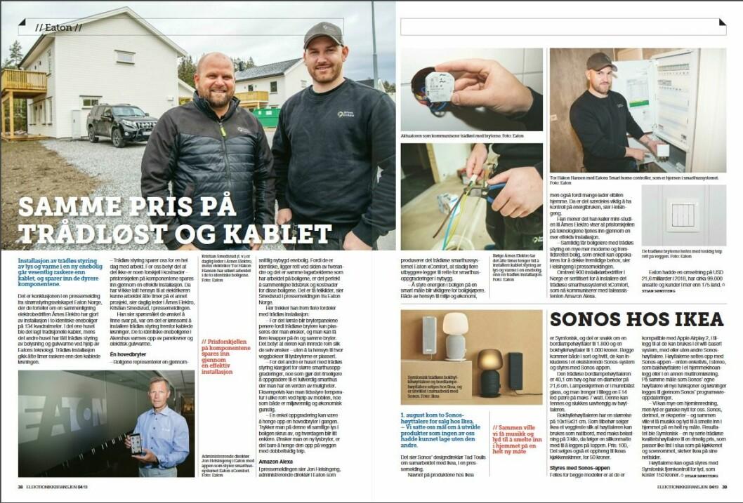 """Artikkelen ble første gang publisert i papirutgaven av fagbladet Elektronikkbransjen nr. 4/2019, som ble distribuert 28. august. <a href=""""http://www.mypaper.se/html5/customer/248/12568/?page=38"""" target=""""_blank"""" rel=""""noopener"""">Her kan du lese artikkelen</a> og bla gjennom digitalutgaven av bladet. Du kan lese alle utgaver av bladet digitalt, fra og med nr. 1/1937, på <a href=""""https://www.elektronikkbransjen.no/historiskarkiv"""" target=""""_blank"""" rel=""""noopener"""">elektronikkbransjen.no/historiskarkiv</a>."""